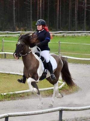 Islandshästar är en stor och viktig del i Nettans liv. Just nu har hon sina två hästar i ett stall i Birsta. Foto: Frida Bennerman