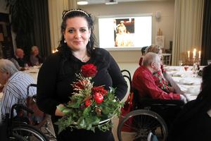Helena Bech, som är florist i grunden, fixade fina blomsterarrangemang.