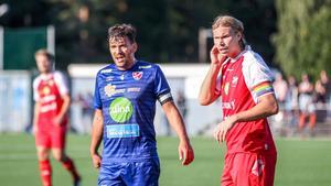 Adam Skhiri (till höger) väljer nu att gå tillbaka till Söderhamns FF efter en och en halv säsong i Norrala.