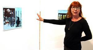 Träd och fåglar är återkommande motiv i Ingela Bauers konst.