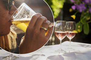 En person dricker öl i solen.  Nyligen kom en svensk forskargrupp fram med nya riktlinjer för alkoholkonsumtion, som införs i Stockholms län. Forskarna slår hål på myten om att dagligt intag av alkohol skulle vara bra för hälsan.Foto: Vilhelm Stokstad / TT /