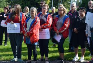 Personer från Kommunal Ludvika fanns på plats under undersköterskeupproret i Borlänge, till vänster Maria Bölla.