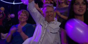 Gottfrid hejades fram av familjen på plats under förra veckans framträdande. Bild: Klipp TV4
