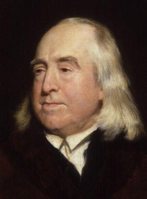 Den brittiske filosofen Jeremy Benthams tankar har haft stor betydelse för välfärdssamhällets framväxt. Målning av Henry William Pickersgill.