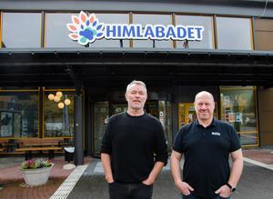 Arenachef Hasse Bergqvist och teknikchef Jonas Lindevall är överens om att larmet är ett riktigt lyft för Himlabadet.