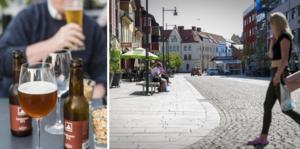 I år fick Faluns krögare och kaféägare smälla upp sina uteserveringar redan den 1 april. Bild: TT/Emil Danielsson
