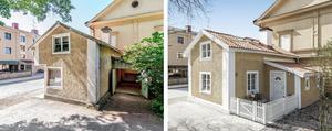 Tullhuset har renoverats till ett modernt boende på 70,5 kvadratmeter. Foto: Svensk Fastighetsförmedling Arboga