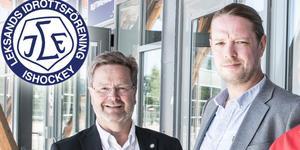 Leksands ordförande Åke Norström till vänster och hans troliga efterträdare Claes Bergström till höger.
