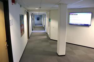 Våningsplanet där bland annat kommunstyrelsens förvaltning finns i Lekebergs kommunhus.