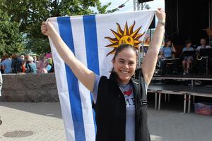 ¡Viva Uruguay! Susanne Pontvik passar på att fira sina sydamerikanska rötter under den, enligt henne, överlägset bästa dagen på året.