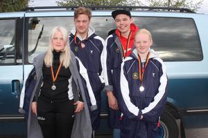 Eleanor Fredholm, Martin Schön, Oliver Blomberg och Edith Wallberg. Foto:  Anders Schön