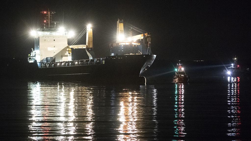 Lastfartyg pa grund