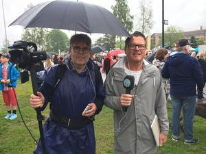 Allehandas reportrar Jörgen Sundin och Jonny Dahlgren.