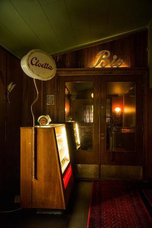Biografen är Hofors gamla biograf, nu i lite mindre format hemma hos Veronica. Foto: Emmelie Hedenström