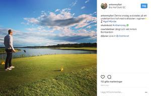 Den förre VIK-backen hänger otaliga timmar på golfbanorna under sommaren.