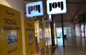 Joy stänger butiker runt om i landet.