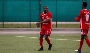Yvan Boyokino firar målet som innebar 3–1 i matchen mot Syrianska.