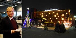 Strax innan jul besökte försvarsminister Peter Hultqvist Sälen, för invigningen av den nya flygplatsen. På söndag återvänder han för Folk och Försvars rikskonferens vid Högfjällshotellet.  Montagefoto: Leif Olsson och Mats Laggar