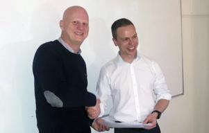 Martin Sahlberg, destinationschef, och Fredric Kilander, näringslivschef.