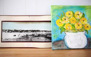 Färdiga alster. Ruth Pettersson har skapat små solar i van Goghs anda.