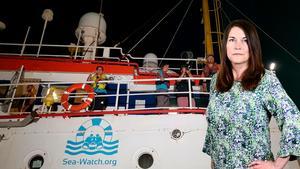 Sea Watch anlöper hamnen i Lampedusas. Foto: Elio Desiderio