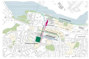 Företagargatan är tänkt att löpa parallellt med Kungsgatan.