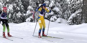 Erika Österman tog två guld på rullskidskytte-SM i helgen. Bilden är från ungdom-OS i Sarajevo i vintras.