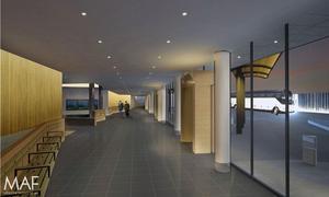 En skiss på den nya vänthallen.Bild: MAF Arkitektkontor AB / Sundsvalls kommun
