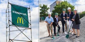 Under onsdagen invigdes bygget av den första McDonald's-restaurangen i Bollnäs kommun.