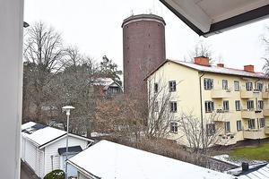 Utsikt från radhuset på Djäkneberget. Foto: Alertus Fastighetsbyrå