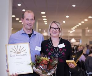 2017 utsågs Janne och Ann Eriksson från Snöborg Gård till årets företagare i såväl Vansbro kommun som i hela Dalarna.                             Foto: Nirvana Gharni / Företagarna Dalarna