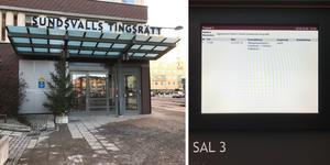 Häktningsförhandlingen hölls på Sundsvalls tingsrätt under torsdagsförmiddagen.