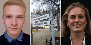 Erik Orrell, distriktsordförande CUF Västernorrland  och Lovisa Kronsporre, kandidat till förbundsordförande CUF.