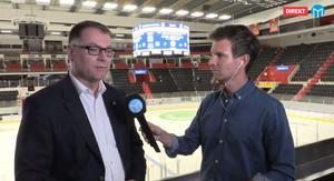 Mats Pernhem under Sportens livesändning efter måndagens ispremiär.