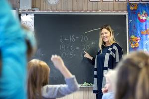 Lektion i klassrum. Foto: Gorm Kallestad/TT