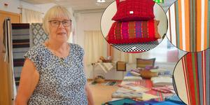 Margareta Robertsson och medlemmarna i Säters vävstuga ställer nu ut smakprov från 50 års arbete på biblioteket i Säter.