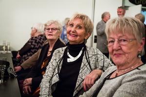 Irene Andersson, Margit Johansson och Anita Lehnberg såg framemot kvällen.