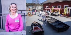 Många var nyfikna och kom ut och tittade på träbåtar vid Båt & Byggnadsvård i Roslagen under lördagen.