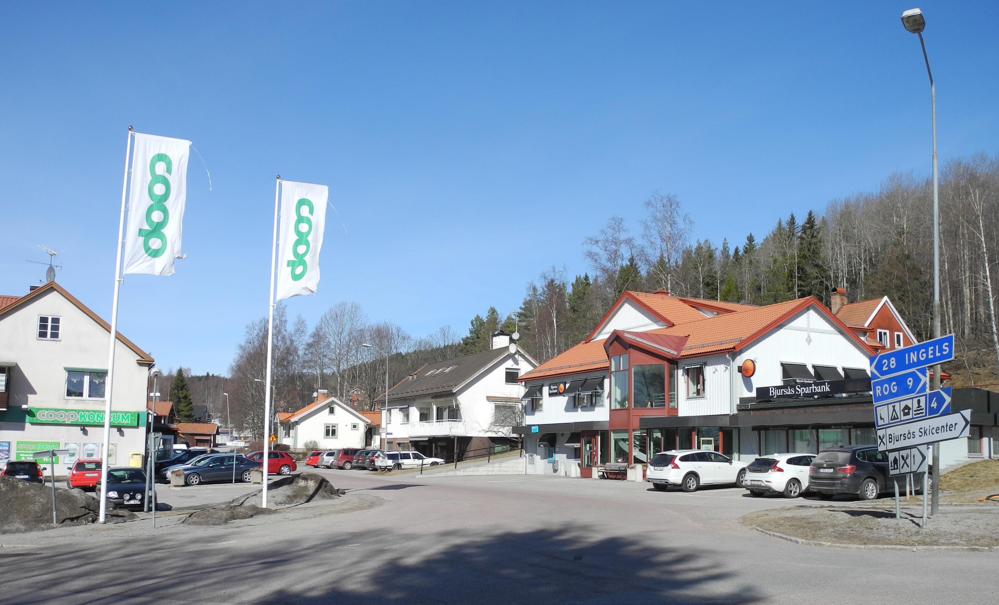 Förutom skolan så framhåller Linda och Mårten affären som viktig för samhället.
