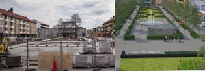 Jansasparken närmar sig invigningen 18 juni, men än finns det kvar att göra innan det ser ut som på skissen.