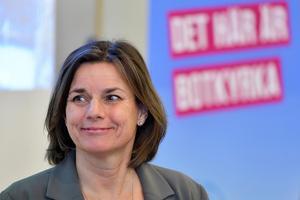 Isabella Lövin (MP) tycker att Sverige svartmålas. Foto: Jessica Gow / TT