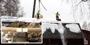 Dagarna efter det att taket på logen rasat in skottades sädesmagasinet. Byggnaden monterades sedan ner och byggs nu upp på nytt. Till delar av renoveringen söker kommunen bidrag.