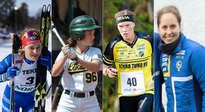 Stina Nilsson, IFK Mora, Henrietta Geertsen, Leksand Lumberjacks, Tove Alexandersson, Stora Tuna OK och Lisa Risby, OK Kåre.
