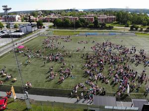 Årets Camp Roslagen lockade 560 deltagare, vilket är nytt rekord. Foto: Henrik Ismarker/Spillersboda flygfoto