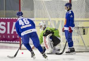 Mikko Rytkönen i Finlands succé-semifinal mot Sverige i förra VM.