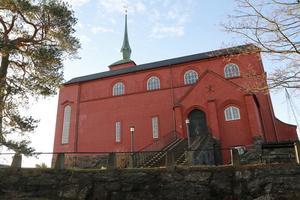 Julfirandet håller till på församlingshemmet vid kyrkan i Nynäshamn.