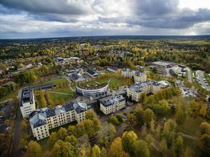 Högskolan i Gävle från ovan.