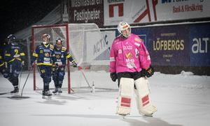 Patrik Hedberg svarade för två assist mot Lidköping i lördagens segermatch, och noterades för två straffräddningar mot Boltic. I den senare matchen räckte dock inte det för Falu BS som föll i Karlstad.