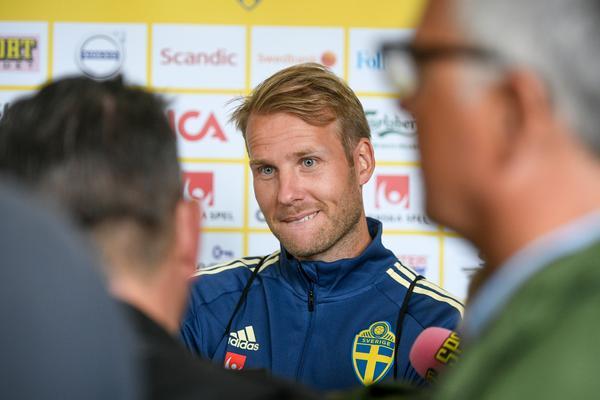 Ola Toivonen efter tisdagens träning. Bild: TT