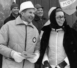 Mora-Nisse Karlsson och prinsessan Christina som åskådare under Vasaloppet 1968. Foto: Svenskt Pressfoto/TT
